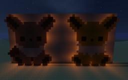 Pixel Art Eevees