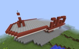 Red Rocket Truck Stop from Fallout 4 Minecraft Project