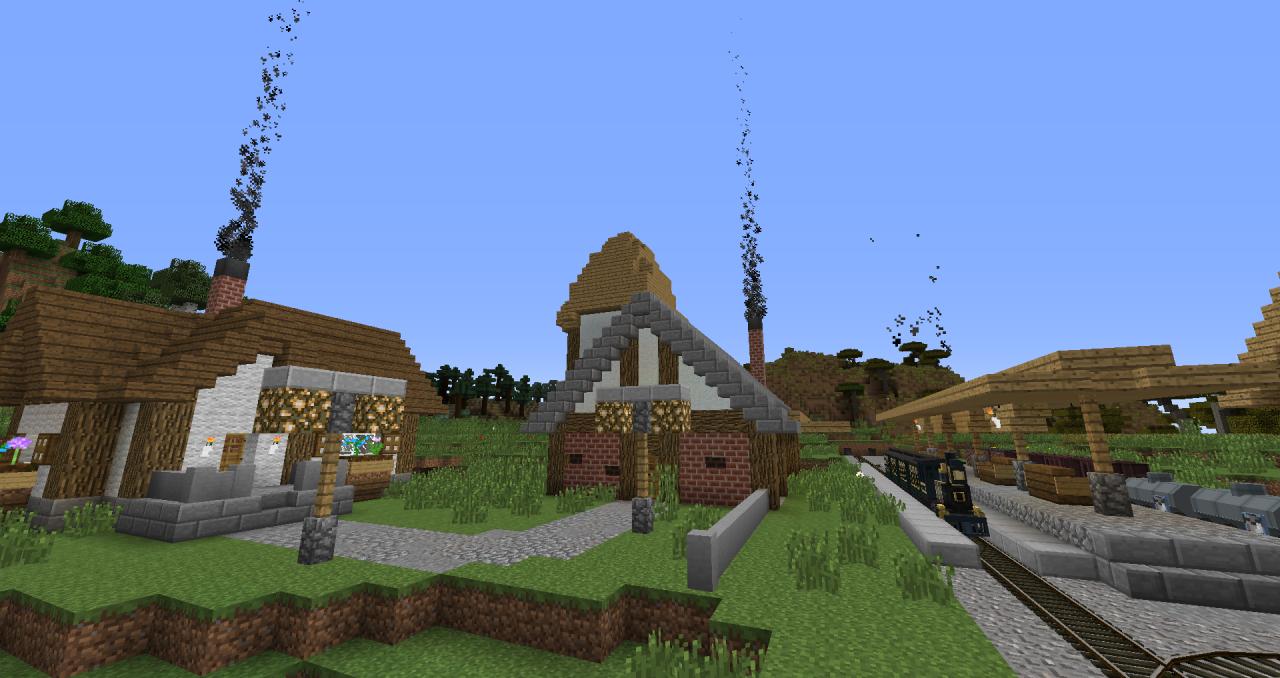 Traincraft 1.7.10 Map Minecraft Project