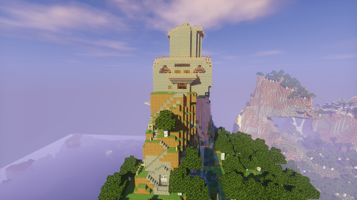 The 3 Mountain Top Bases- An Elytra Challenge Minecraft Project