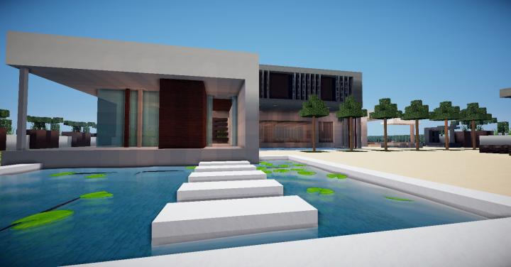 Modern Minimalist House Minecraft Project