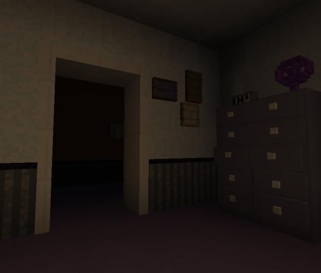 fnaf 4 bedroom 3d minecraft map