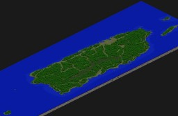 Puerto Rico 1:72 Scale Minecraft Map & Project