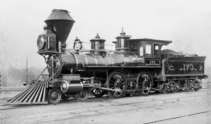 Actual Locomotive in April of 1883, Note the Air Brakes.