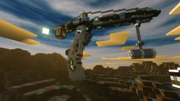 Futuristic Crane Render Minecraft Project