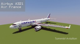 Airbus A321 Air France [+Download] Minecraft Project