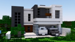 Realistic Modern House Tutorial Minecraft Map & Project