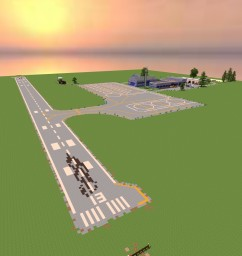 Hollow Creek Airfield - Ultra Detail - Full Interiors - Minecraft Project