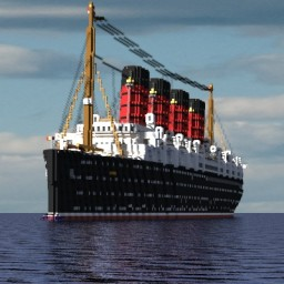 RMS Mauretania 2017 Updated Minecraft Map & Project