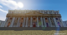 Minecraft Vatican City in Survival / St Peter's Basilica Minecraft Map & Project