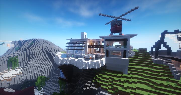 modern town minecraft project