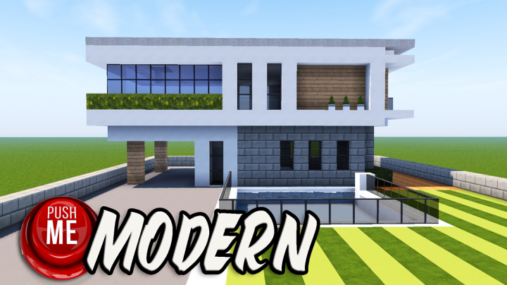 Minecraft how to build a modern house 10 minecraft project for Modern house 360