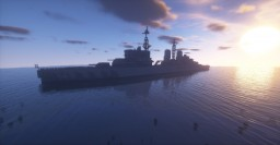 HMS Belfast 1942 1:1 Minecraft Map & Project