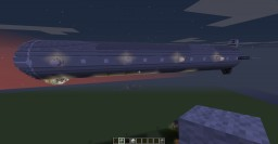 Zeppelin With Full Interior and Redstone Lighting/Weapons System Minecraft Map & Project