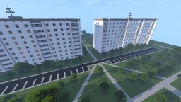 Советский двор/ Soviet yard Minecraft Map & Project