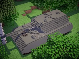 Pz.Kpfw.VIII Maus (10:1 Sclae) Minecraft Map & Project