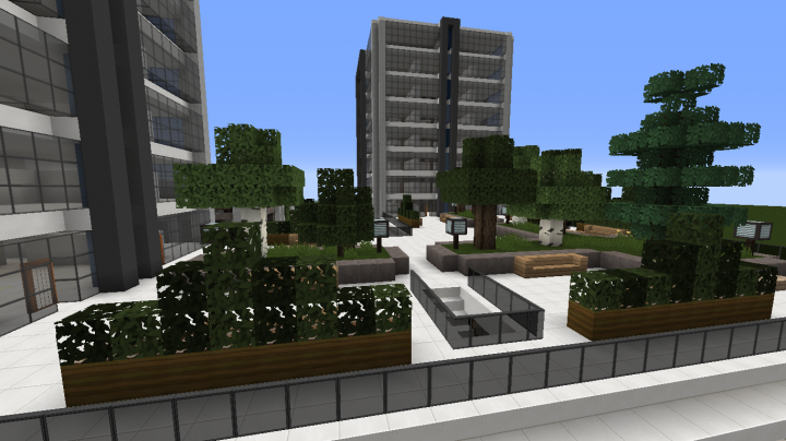 Modern office building 2 minecraft project for Office design minecraft