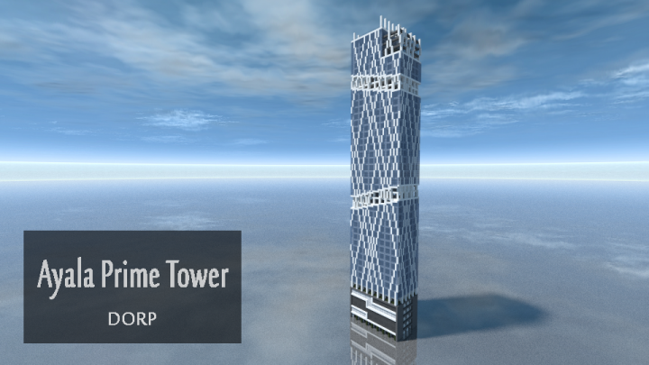 Modern Skyscraper Ayala Prime Tower Minecraft Project