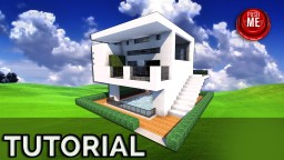 Minecraft Tutorial: Beautiful Modern House - With Pool ( Quartz ) Minecraft Map & Project