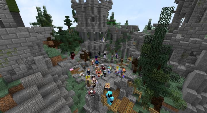 Players enjoying the new warp wild1