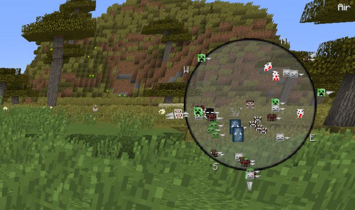 FindTheMobs An Entity Radar Minecraft Mod - Minecraft spieler finden mod