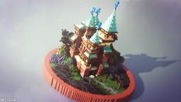 Cartoon Castle Minecraft Map & Project