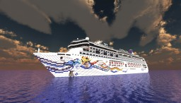 Norwegian Spirit - Cruise Ship {1:1 SCALE - EXTERIOR ONLY Minecraft Project