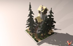 Medieval house/tower plot. [Download] Minecraft Map & Project