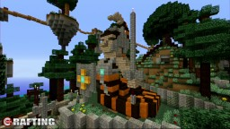 Snake Man Warrior Statue At LBS City Los Block Santos Minecraft