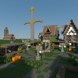 Medieval city UPDATE: barracks and market place Minecraft Map & Project
