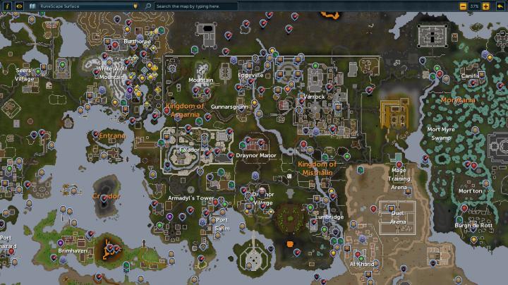 Runescape Map Minecraft Project