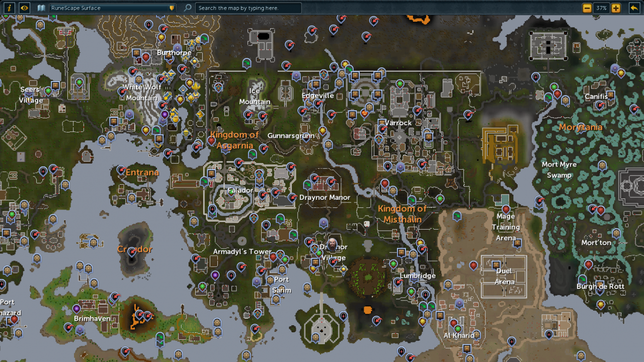 Marvelous Runescape Map