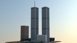 1:2 Manhattan 2001, (World Trade Center). Minecraft Map & Project