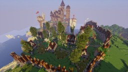 [Rustic|Medieval] City around a Castle with docks + [World Download!] Minecraft