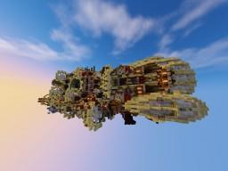 Clouds explorer ~ SteamPunkShip By BurtekArchitect Minecraft Map & Project