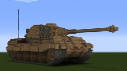 german KING TIGER tank 10/1 scale Minecraft Project
