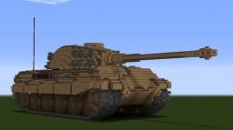 german KING TIGER tank 10/1 scale Minecraft