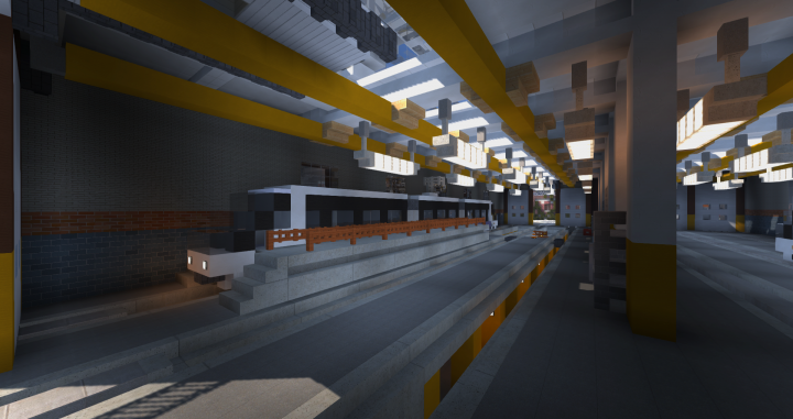 Tram carhouse ecs minecraft project for Car house