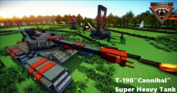 "T-190 ""cannibal ""  Super heavy tank Minecraft Map & Project"