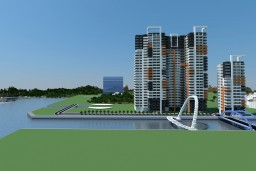 Curveside River Apartments Minecraft Project