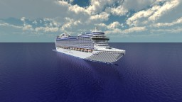 Crown Princess - [1:1 Scale - Real Cruise Ship] + [Full Interior] [1.9] Minecraft