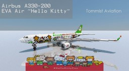 """Airbus A330-200 EVA Air """"Hello Kitty"""" [+Download] Minecraft Project"""