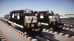 Norfolk Southern EMD GP38-2 Diesel-Electric Locomotive Minecraft Project