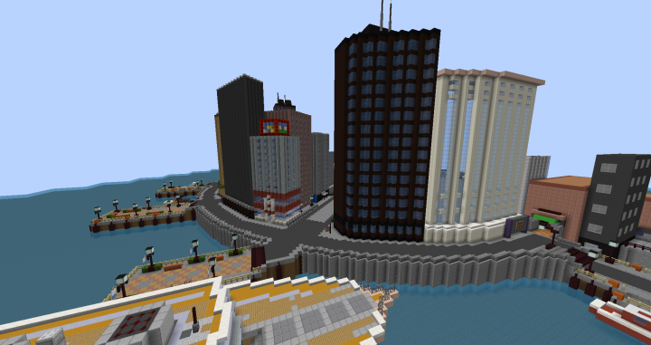 Castelia City in Unova. Still a WIP, but mostly done