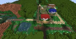 Pokemon Kanto: Viridean City, Route 2, Viridean Forest Minecraft Project