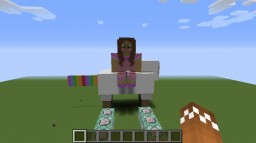 Jen Riding A Sheep | Burning Map Minecraft Project