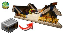 How to Transform a Minecraft Village Blacksmith Minecraft Map & Project