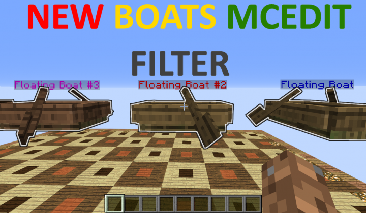 MCEdit Filter Boats