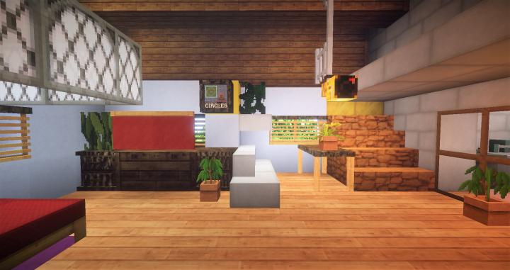 Interior of Hinatas cottage