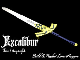 Excalibur (Fate Series) - Fantasy Weapon Models Minecraft Project